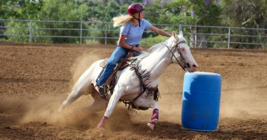Riding Barrels at a Gymkhana Event